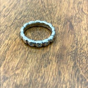 PANDORA Stackable SILVER HOPE Ring w CZ